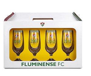 Conjunto de Taças Fluminense Floripa 300 ml - 4 Unidades