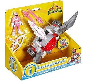 Zord Pterodactyl Rosa Power Rangers Imaginext - Mattel