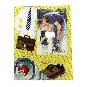Porta Retrato de Vidro Papai Guerreiro 10cm x 15cm - Rio Master