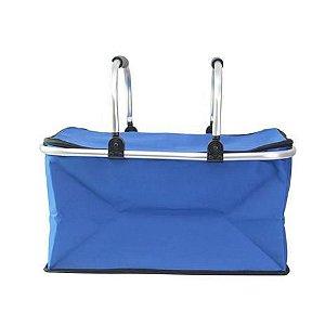 Cesta Termica Piquinique Dobravel Azul - Casita