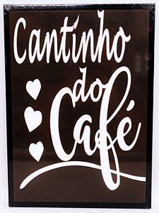Quadro Decorativo de Plastico Cantinho do Café 26x36cm - Amigold
