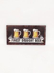 Placa Decorativo Cerveja MDF - Rocie