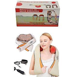 Massageador de Pescoço, Costas, Ombro e Joelhos 3D Infravermelho Shiatsu Relax