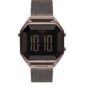 Relógio Technos Feminino Digital Crystal Marrom - BJ3851AL/4P