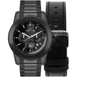Relógio Technos Smartwatch Connect Preto 3+ Black M1ab/4p