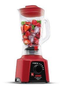 Liquidificador Arno Power Mix Limpa Fácil com 5 Velocidades 550W – Vermelho