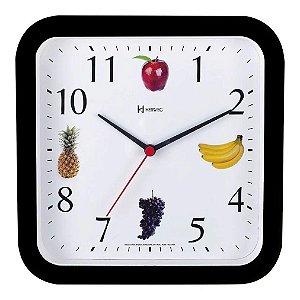 Relógio De Parede Frutas 23 Cm Preto - Herweg