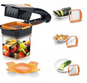 Cortador Kook 5 em 1 Multi Fatiador de Legumes Frutas e Verduras Plus