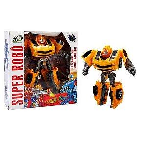Super Robô Transforma em Carro Vip Toys Amarelo