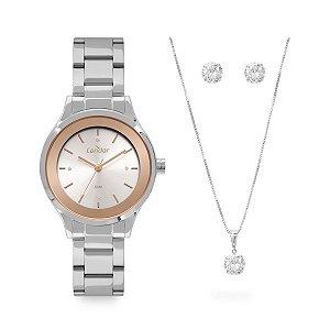 Relógio Condor Feminino Prata + Semijoia - CO2035MWQ/K4J