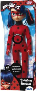 Boneca Ladybug Musical Miraculous - Baby Brink