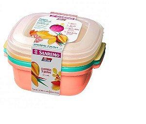 Conjunto de Potes de Plastico C/3 - Sanremo