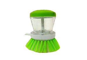 Escova lava louça com dispenser para detergente Verde - Paramount