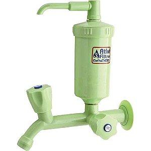 Torneira com Filtro Cl Ativi Filtro Verde