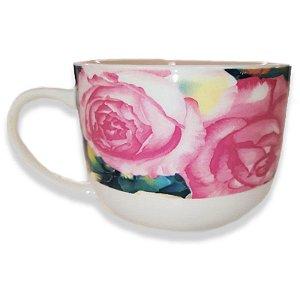 Caneca de Porcelana Jumbo 470ml Flores - Wincy