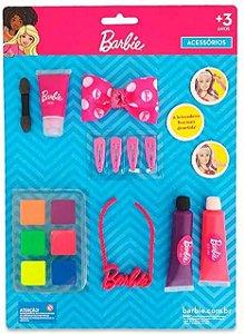 Maquiagem para Boneca Kit com Colar Barbie - Pupee