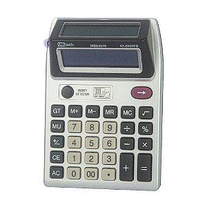 Calculadora MBTech 12 Dígitos Display Duplo + Detector UV Pilha AA - MB54376