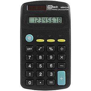 Calculadora MB Tech 8 Dígitos Pilha AA - MB54319