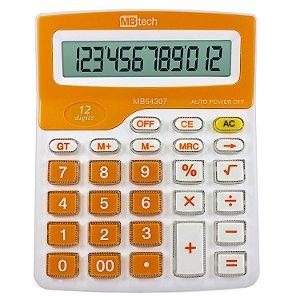 Calculadora MBTech Laranja 12 Dígitos Pilha AA - MB54307