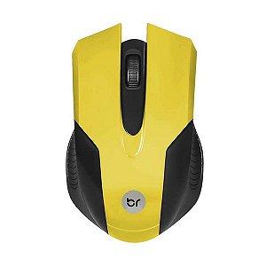 Mouse USB Preto e Amarelo - Bright