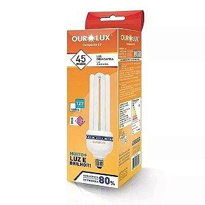 Lâmpada Fluorescente Compacta 4U 45W / 127V Branca Fria (6.400K) E27 - Ourolux