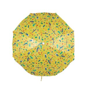Guarda-Sol Fashion 1,60m Estampa Amarelo - Mor