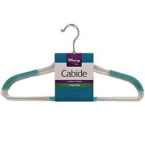 Conjunto com 3 Cabides Wincy Plástico Transparente OGA02011