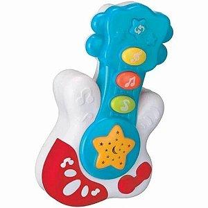 Brinquedo Musical Baby Guitarra Azul - Bbr Toys