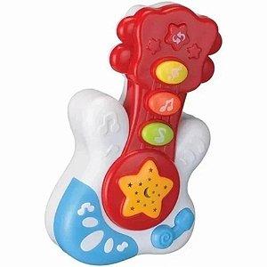 Brinquedo Musical Baby Guitarra Vermelha - Bbr Toys