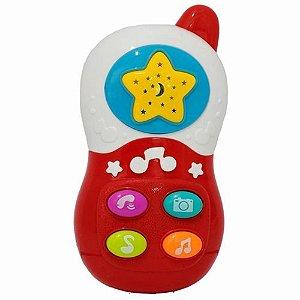 Brinquedo Musical Baby Telefone Vermelho - Bbr Toys
