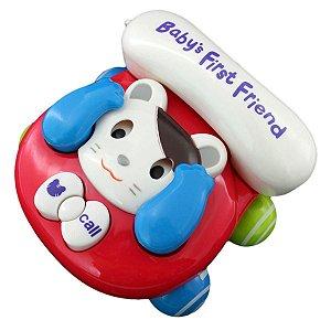 Telefone Baby Brincar (Gato) - Bbr Toys