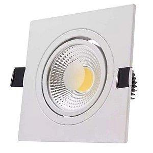 Spot Light Quadrado de LED 5W Branca (6.500K) Bivolt - Luminus