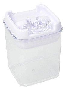 Pote Plástico Hermético 300Ml C/ Tampa Branco - Em Casa Tem