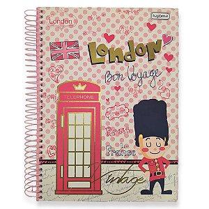 Caderno Coleção Vintage Espiral 10 Matérias 200 Fls - Kajoma