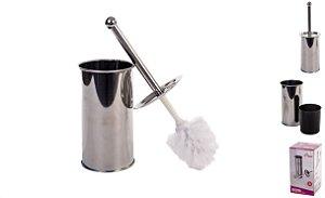 Escova Sanitaria com Estojo Inox 33cm - Em Casa Tem