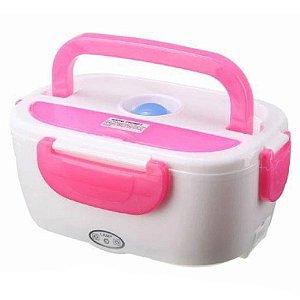 Marmita Elétrica Lunch Box Rosa Tomada e Carro 110V / 12V