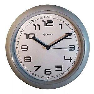 Relógio de Parede Eurora cinza mostrador branco