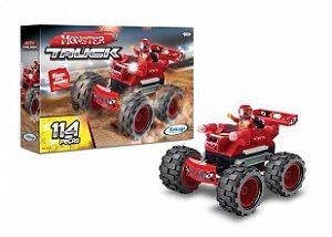Blocos Encaixe Monster Truck Vermelho C/114PC - Xalingo
