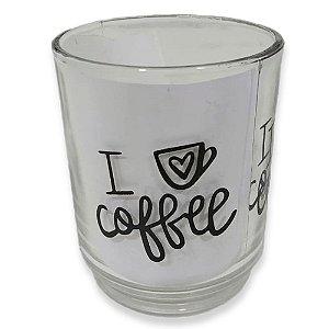 Jogo Caneca de Vidro 3 Pçs New Coffe Decor 250ml Em casa Tem