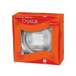 Conjunto com 6 Pratos de Sobremesa 17cm Crystal - Wheaton