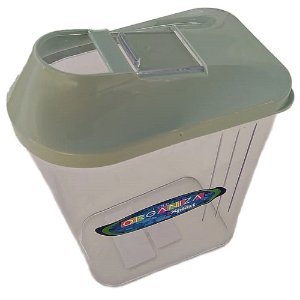 Pote de Plástico Multiuso Retangular 1,45L Verde - Xplast