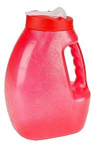 Jarra De Plastico Recipiente Para Agua Botellas Agua 3.2L Vermelha Jaguar