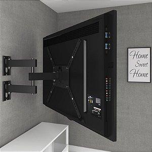 """Suporte para TV Articulado c/ Inclinação LED/LCD de 14"""" a 58"""" M3 Preto - Multivisão"""
