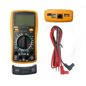 Multímetro Digital Teste de Rede / Telefonia e USB profissional HY4300 - Star Cable