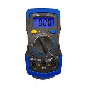 Multímetro digital portátil azul c/ iluminação MD-180L - Exbom