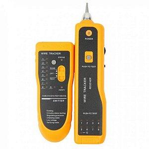 Kit Localizador de Cabos Rede Telefone e teste RJ45 RJ11 Zumbidor  XY-360 YLW