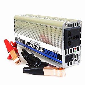 Inversor Conversor Veicular C/ potência 2000W 12V P/ 110V  KP-550 KNUP