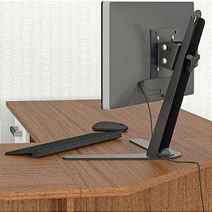 Suporte de Mesa para Monitores de 10″ a 24″ c/ Ajuste de Altura Multivisão