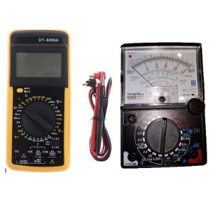 Multímetro Digital DT-9205A com Capacimetro + Multímetro Analogico 20m buzzer