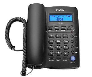 Aparelho Telefone c/ Fio c/ Identificador de Chamadas, Viva-Voz e Bloqueador  TCF 3000 Preto - Elgin